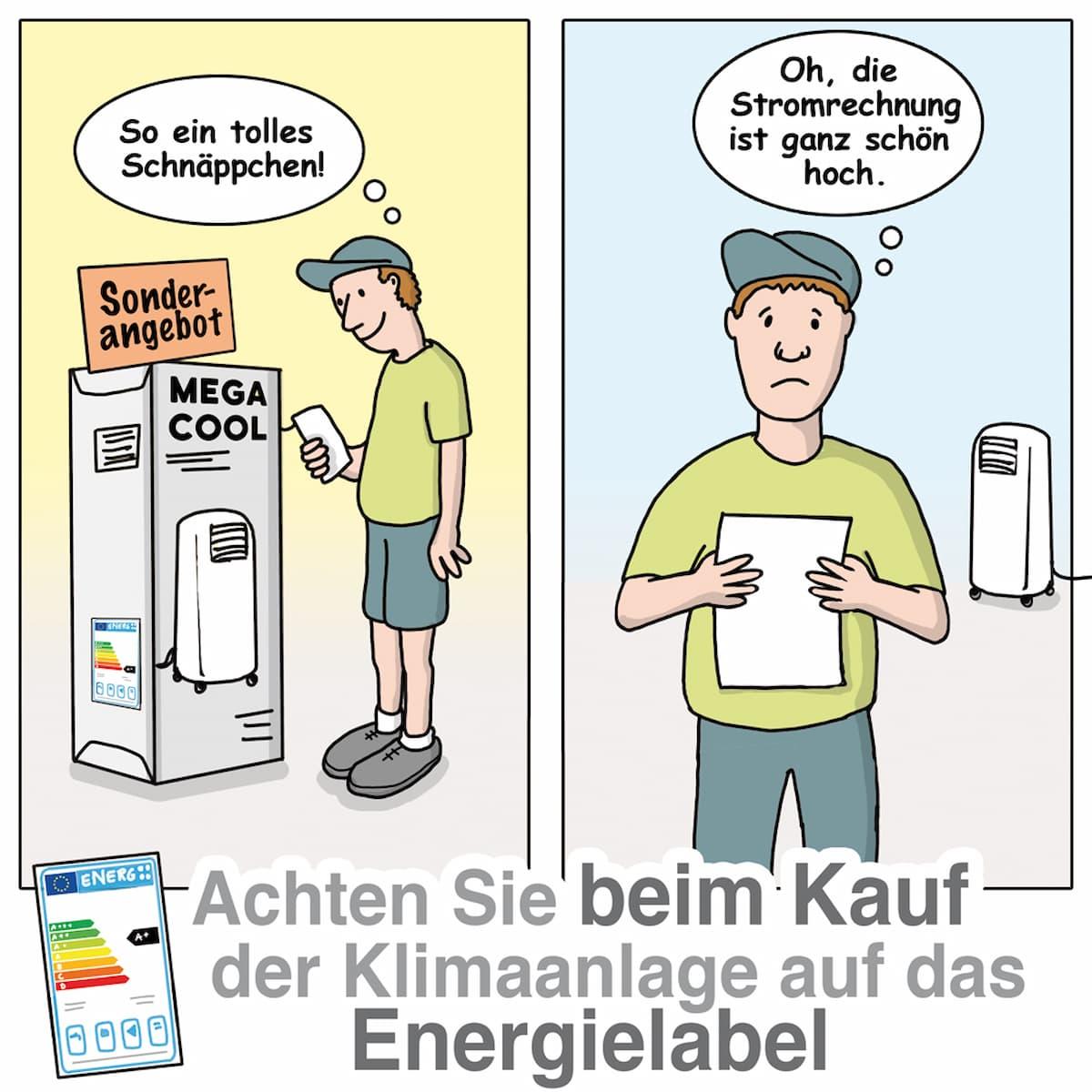Klimaanlage kaufen: Achten Sie auf das Energielabel