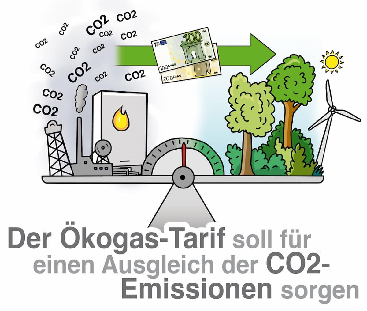 Der Ökogas-Tarif soll für den Ausgleich der CO2-Emissionen sorgen