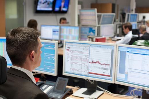 Handelsraum an der Strombörse EEX © Bild Christian Hüller
