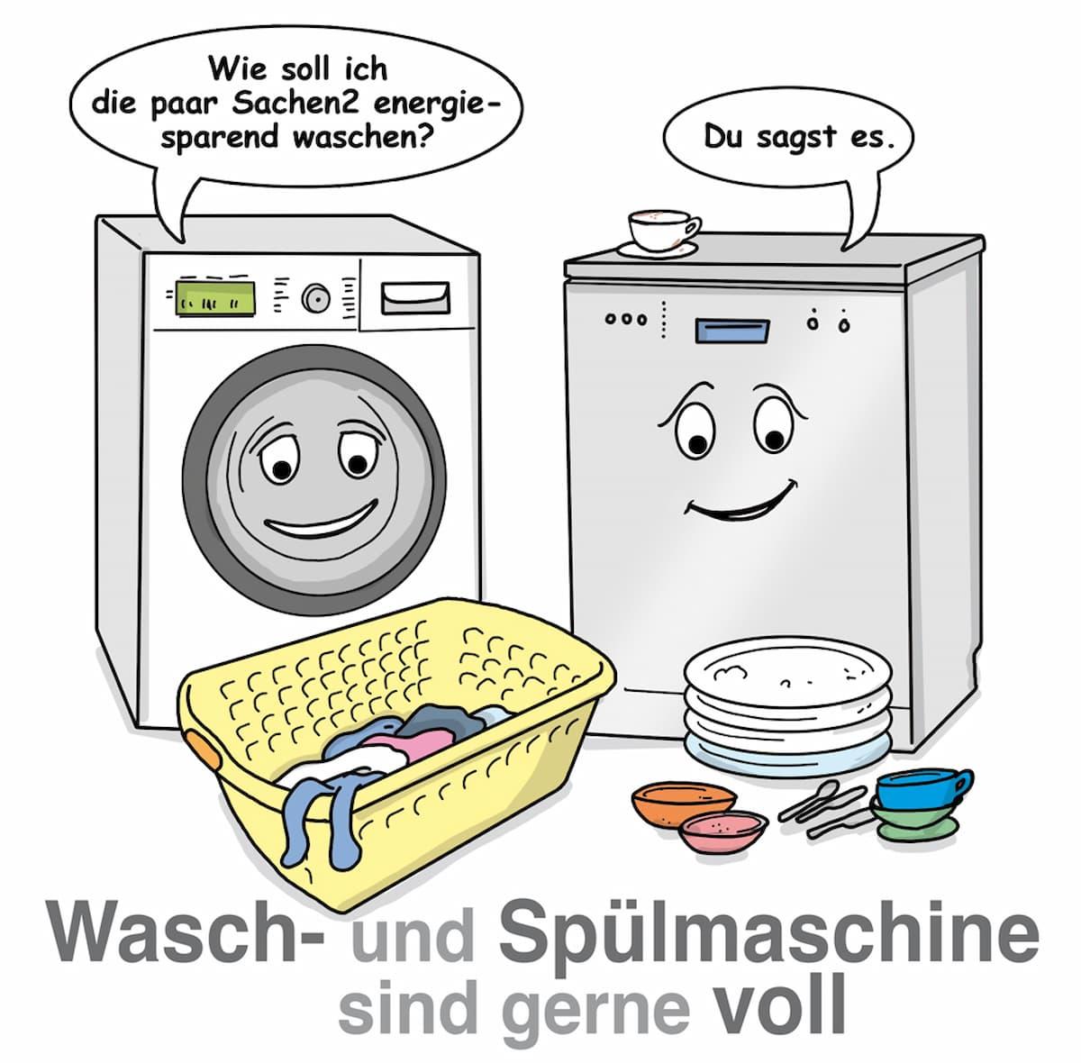Waschmaschinen und Spülmaschinen nur voll laufen lassen