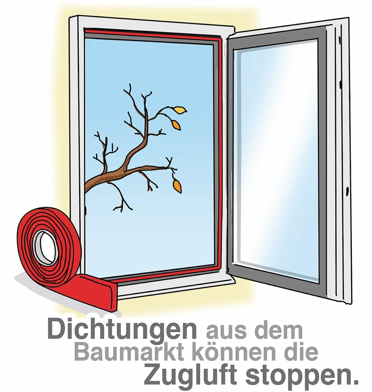 Neue Dichtungen machen das Fenster dicht und stoppen die Zugluft